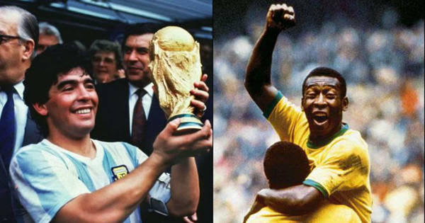 Revista inglesa levanta polêmica e coloca Maradona melhor que Pelé