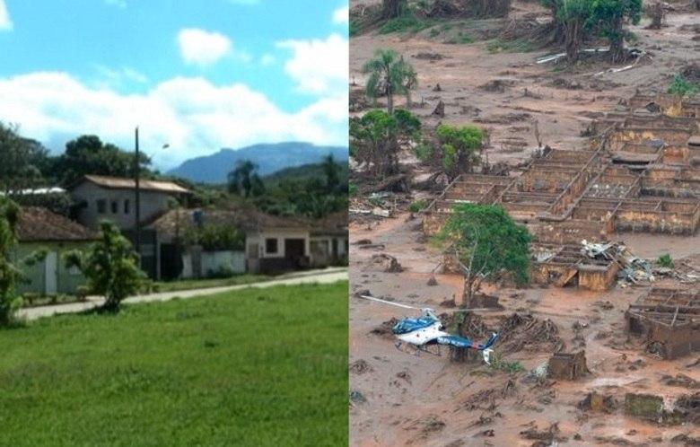 Localizado na parte baixa de Mariana, na região central de Minas, o distrito de Bento Rodrigues era um lugarejo tranquilo que abrigava 188 famílias. Todas elas ficaram desabrigadas após o rompimento de duas barragens de mineração da Samarco