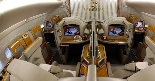 Passagem de primeira classe para São Paulo no maior avião do ...