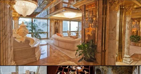 Mansão de três andares do bilionário Donald Trump vale mais de R ...