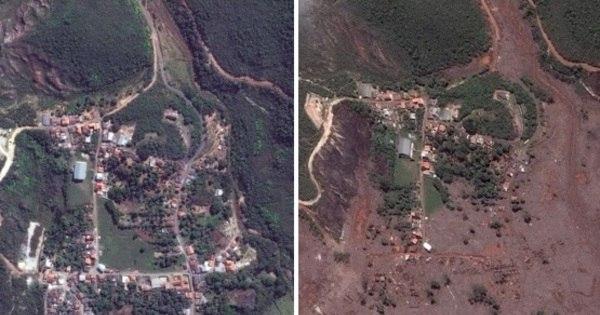 Imagens de satélite mostram dimensão da tragédia em Bento ...