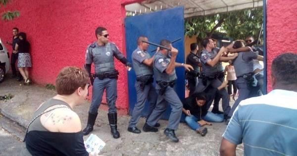 PM e manifestantes entram em confronto durante ocupação de ...
