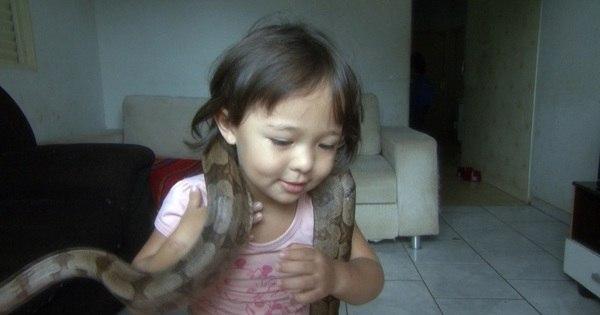 É muita fofura (e coragem)! Menina de 3 anos vive com 50 animais ...
