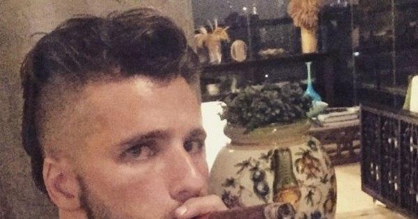 """Bruno Gagliasso aparece com novo visual e charuto: """"Ficou feio ..."""