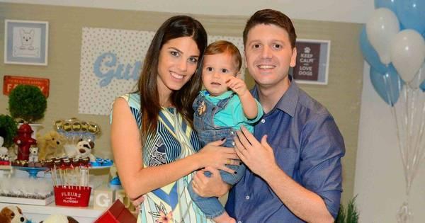 Bebê de Daniel Zukerman, do Pânico, ganha festa de um aninho