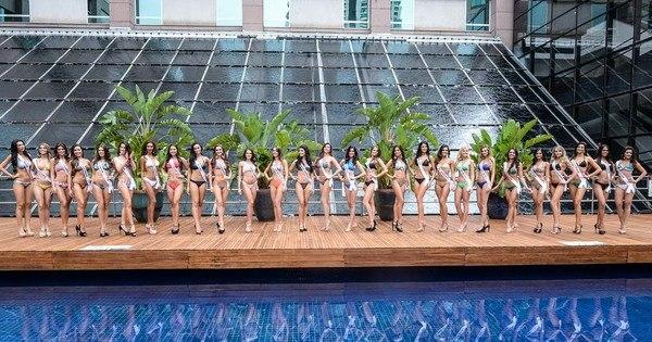 Candidatas a miss Brasil 2015 mostram boa forma em desfile de ...