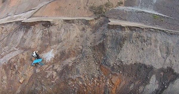 Imagens mostram danos em barragem que corre risco de rompimento