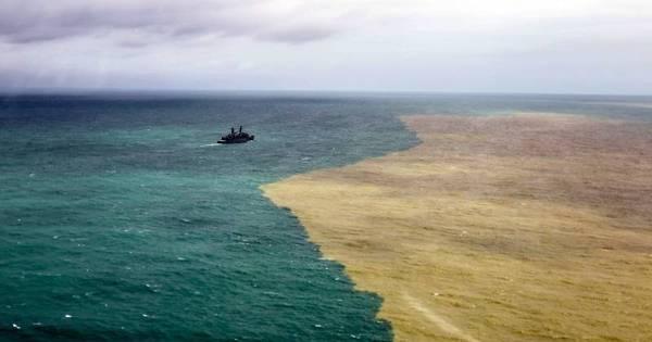 Navios da Marinha se deslocam para analisar contaminação de ...