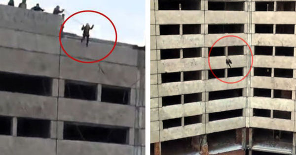 Garota salta de bungee jump de prédio de dez andares e corda não ...