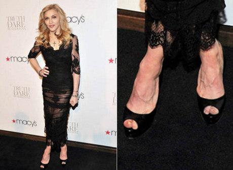 De Madonna a Graciele: veja<br />as celebridades com pés feios