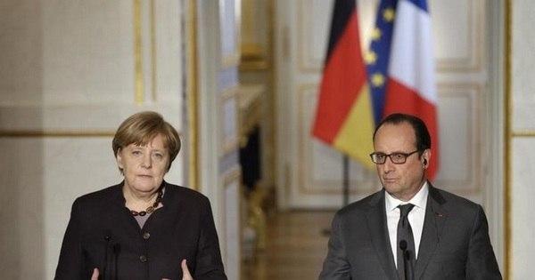 Merkel promete mais apoio alemão à França após ataques ...