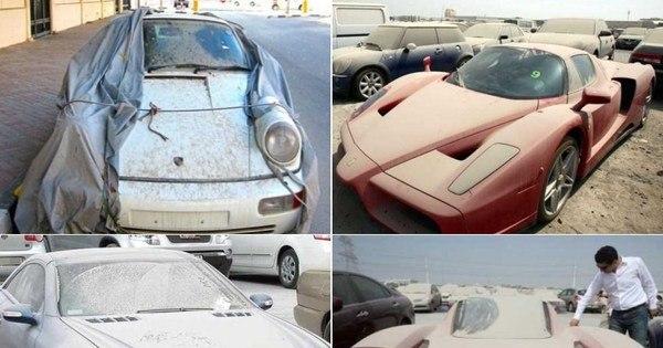 Que desperdício! Milionários em crise abandonam vários carros ...
