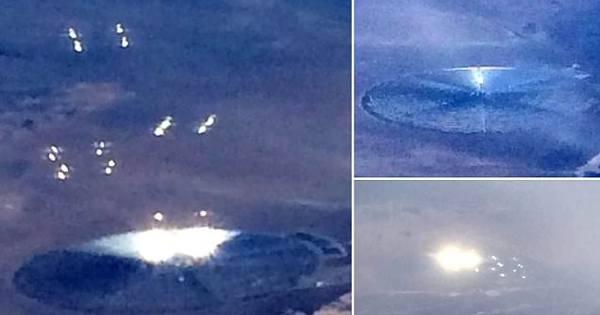 Discos voadores? Avião lotado flagra luzes muito estranhas perto ...