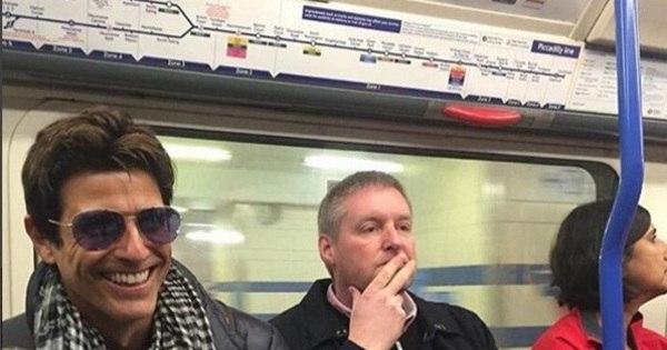 Reynaldo Gianecchini encara viagem de metrô; veja quem também ...