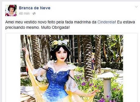 Personagens da Disney abrem contas no Facebook e postam