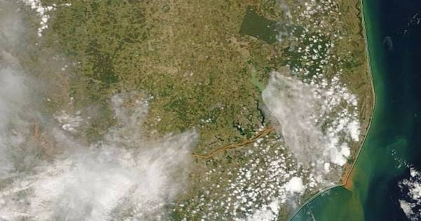 Chegada de lama ao mar é registrada do espaço por satélite da Nasa