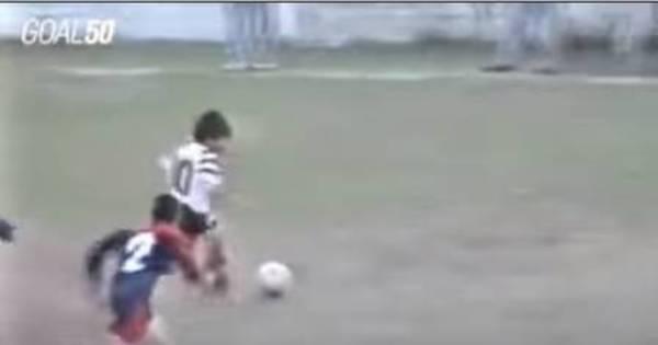 Gol inédito de Messi aos 12 anos pelo Newell's Old Boys é ...