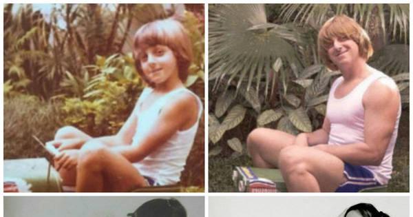 Famosos reproduzem fotos de infância em detalhes; divirta- se com ...