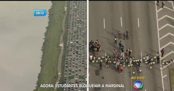 Estudantes fecham faixas da marginal Pinheiros em novo ato contra ...