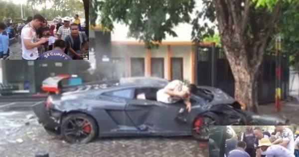 Motorista mata um atropelado em racha e desce de Lamborghini ...