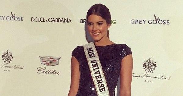 No dia 20 de dezembro, a miss Universo Paulina Vega vai passar a ...