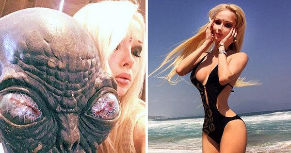 Barbie humana vira Alien em filme de Hollywood e comemora ...