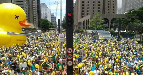 Organizadores admitem público menor em protesto em São Paulo ...