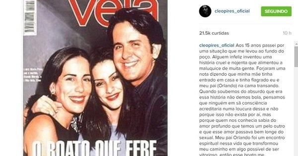 Cleo Pires relembra boato de affair com padrasto, Orlando Morais ...