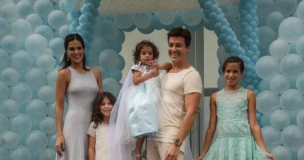 Filha caçula de Rodrigo Faro e Vera Viel ganha festa de aniversário ...