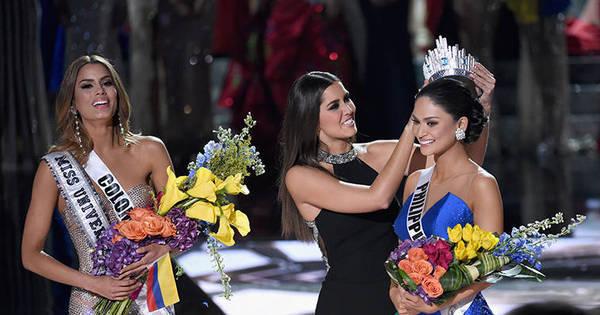 """Miss Filipinas manda mensagem a Miss Colômbia: """"O destino tem ..."""
