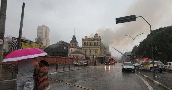 Incêndio em Museu da Língua Portuguesa fecha estação da Luz da ...