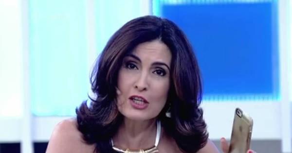 """Celular de Fátima Bernardes toca durante programa ao vivo: """"Por ..."""