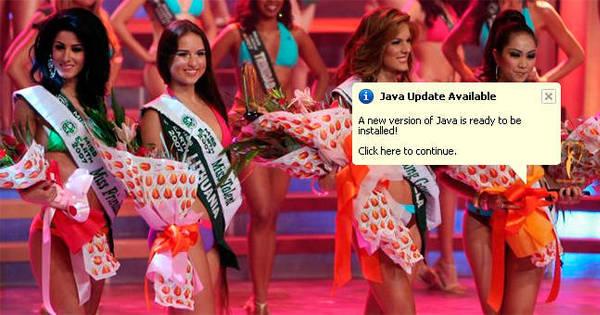 Isso é sério? Miss Java teria sido Miss Universo - se estivesse ...