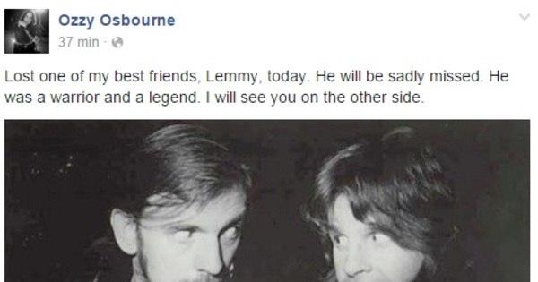 Lendário vocalista do Motörhead Lemmy Kilmister morre de câncer ...