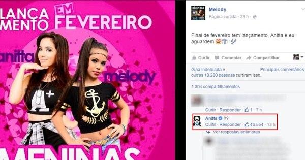 Melody anuncia lançamento com Anitta e cantora desmente com ...