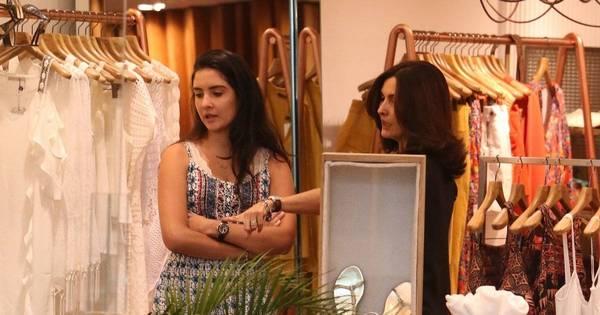Fátima Bernardes faz compras com as filhas em shopping - Fotos ...