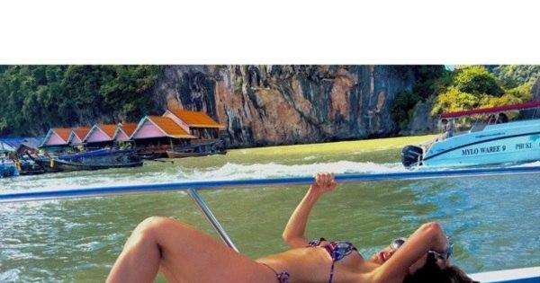 Sabrina Sato exibe corpaço em biquíni na Tailândia ...