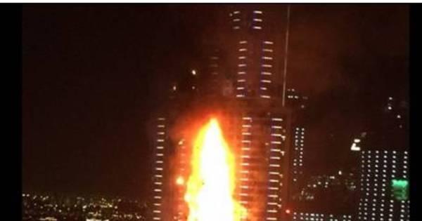 Nuvens de fumaça ainda envolvem hotel de luxo que pegou fogo no ...