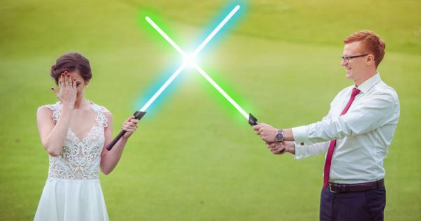 Apaixonado por Star Wars edita fotos de casamento e faz imagens ...