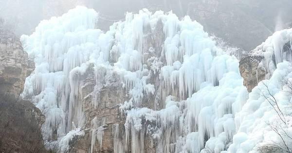 Raridade! Cachoeira congelada impressiona turistas - Fotos - R7 ...