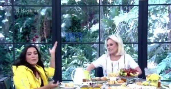 "Ana Maria Braga ""dá bronca"" em Anitta ao vivo: ""Olha pra mim ..."
