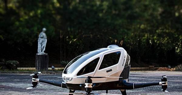 Dronecóptero? Empresa chinesa apresenta drone para transporte ...