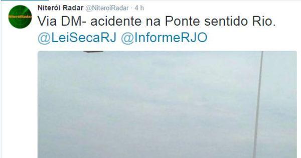 Carro capota em acidente na ponte Rio-Niterói - Notícias - R7 Rio ...