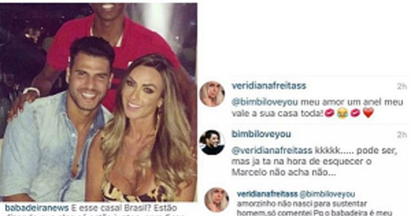 Com ciúmes de Marcelo Bimbi, Veridiana Freitas causa em foto do ...