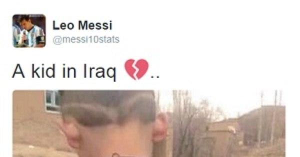 Messi quer conhecer garoto que fez camisa do craque com saco ...