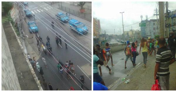 Em protesto após morte de mototaxista, moradores fecham avenida ...