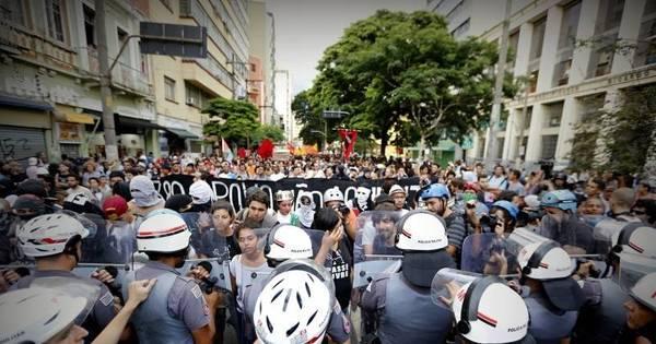 Repressão policial em protestos mira Passe Livre e estudantes ...
