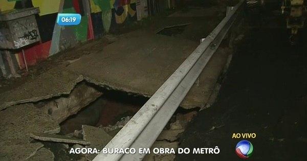 Solo afunda em frente à estação Arthur Alvin do Metrô - Notícias ...
