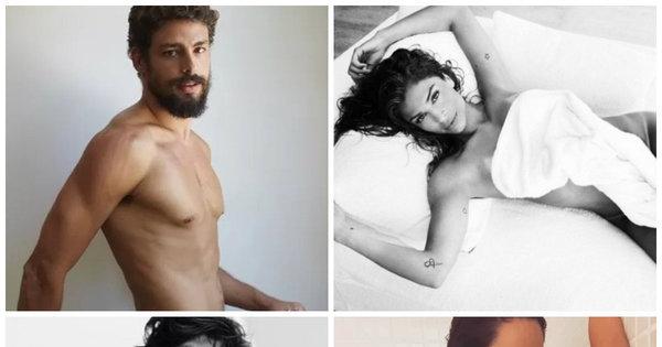 Eles sabem sensualizar! Veja fotos picantes de famosos com pouca ...