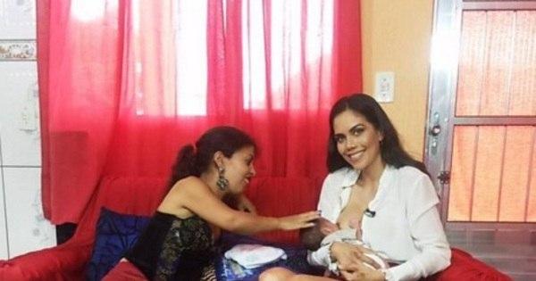 Daniela Albuquerque amamenta bebê de telespectadora ...